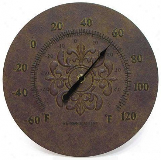 Climate Control Medallion Thermometer - Wall, Pumpkin