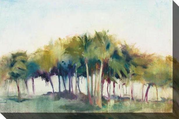 """""""coconut Grove Canvas Wall Art - 48""""""""hx32""""""""w, Blue"""""""