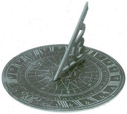 """collier Sundial - 7""""hx11.5""""wx11.5, Green"""