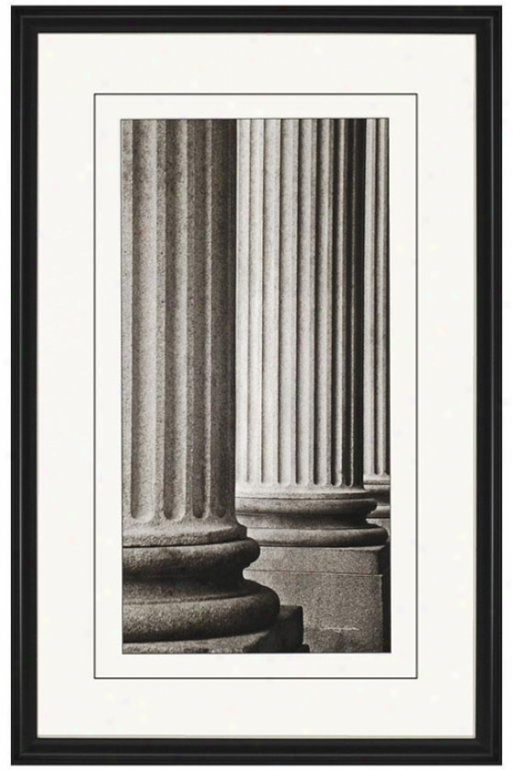Colonnade Wall Art - Perspective, Black