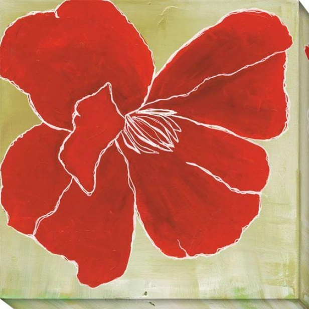 Pigment Study Oversized Canvas Wall Art - Iii, Red