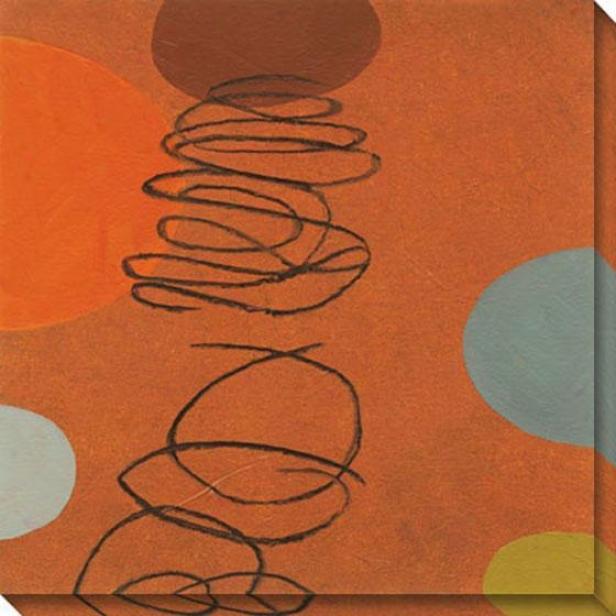 Commune Ii Canvas Wall Art - Ii, Orange