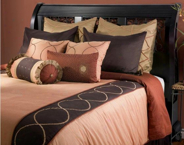 Concentric Bedding Set - Queen 10pc Set, Pumpkin