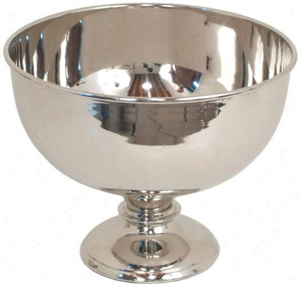 """connor Footed Bowl - 8""""hx10""""round, Silver"""