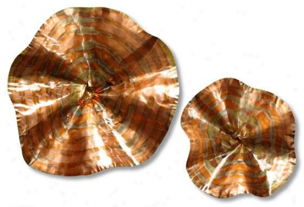 Convergence Wall Sculpture - Med Set Of 2, Copper