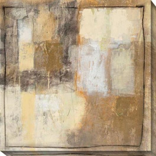 Convolution I Canvas Wall Art - I, Beige