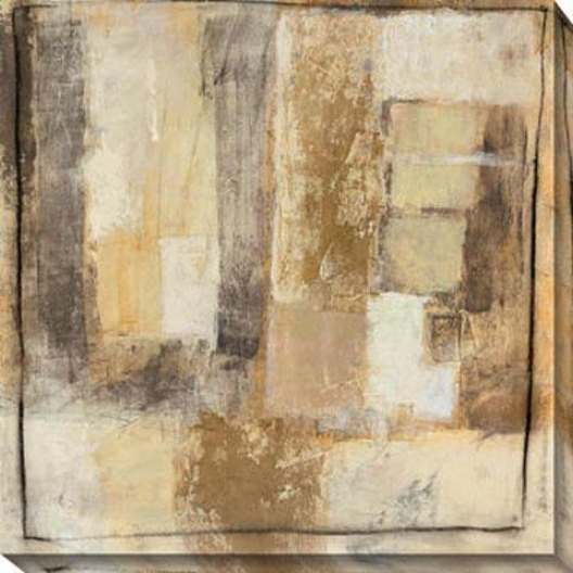 Convolution Iv Canvas Wall Art - Iv, Beige