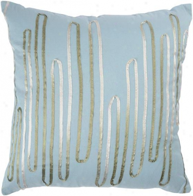 Coralie Pillow - 18x18, Blue Polyester
