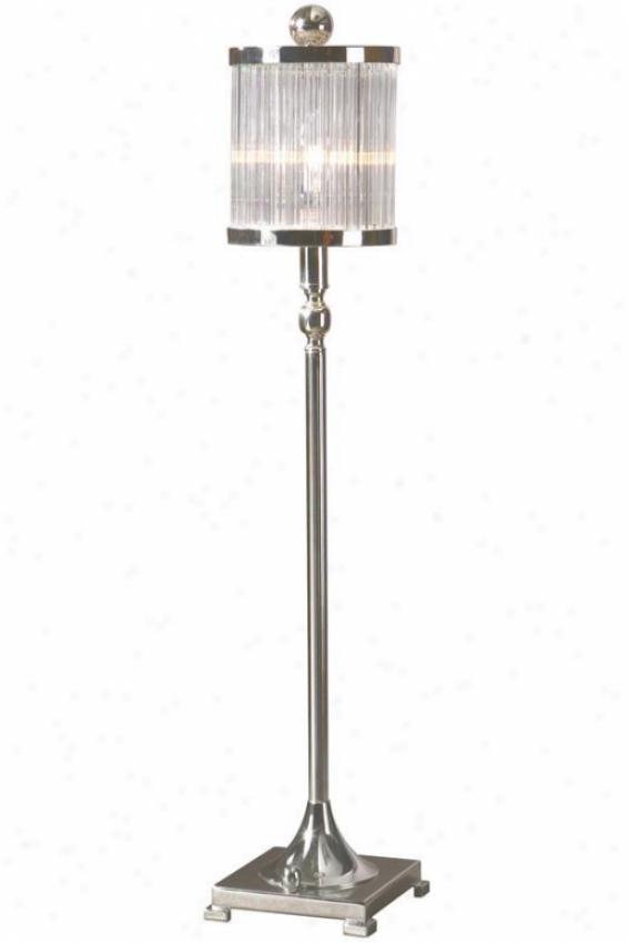 """""""cordelia Buffet Lamp - 32.25""""""""hx6""""""""sq, Silver"""""""