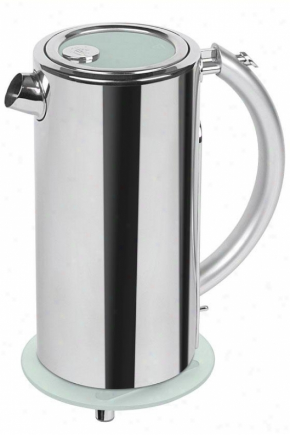Cordless Water Kettle - 5hx12wx8.5d, Silver