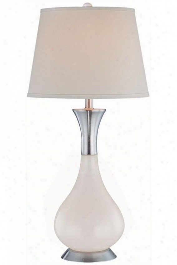 """corolla Table Lamp - 14.5""""x30.5"""", White"""
