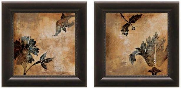 Coromandel Framed Wall Art - Set Of 2 - Set Of Two, Brown