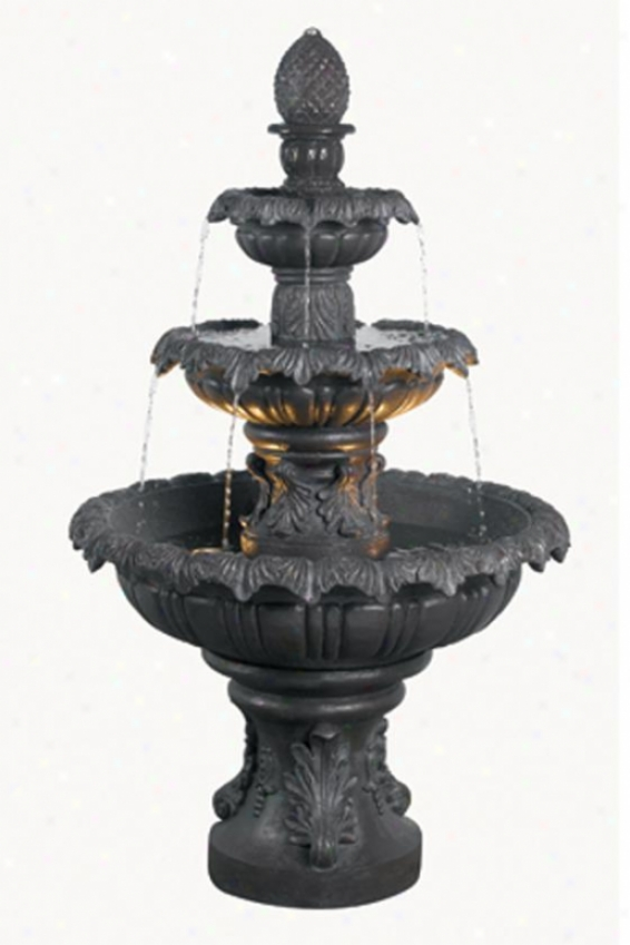 """costa Brava Outdoor Floor Fountain - 46""""hx26""""d, Bronze"""