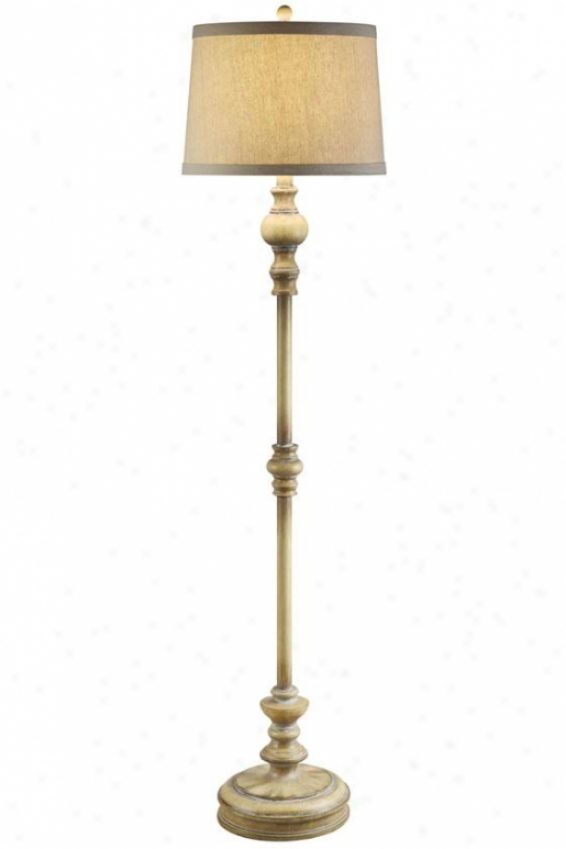 """cottaye Floor Lamp In Sun Bleached Taupe End - 61""""h, Sun Blchd Taupe"""