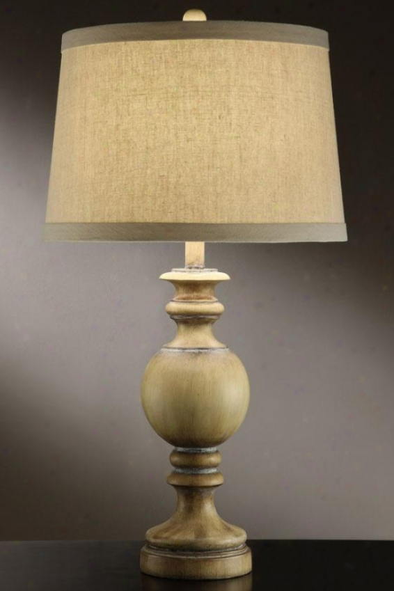"""Cot Table Lamp In Sun Bleached Taupe Finish - 30""""h, Sun Blchd Taupe"""