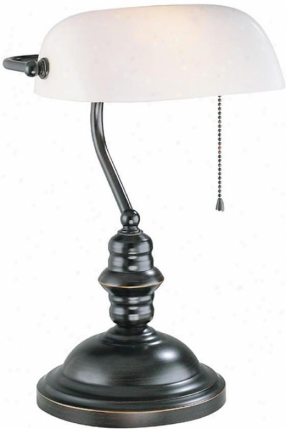 """countinghouse Lamp - 15""""hx10.75""""d, Bronze"""