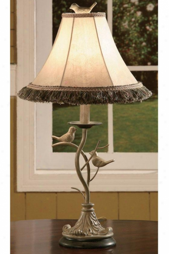 """Region Bird Accent Lamp - 25""""h, White Washed"""