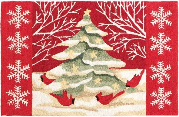 """""""country Christmas Area Rug - 22""""""""x34"""""""", Red"""""""