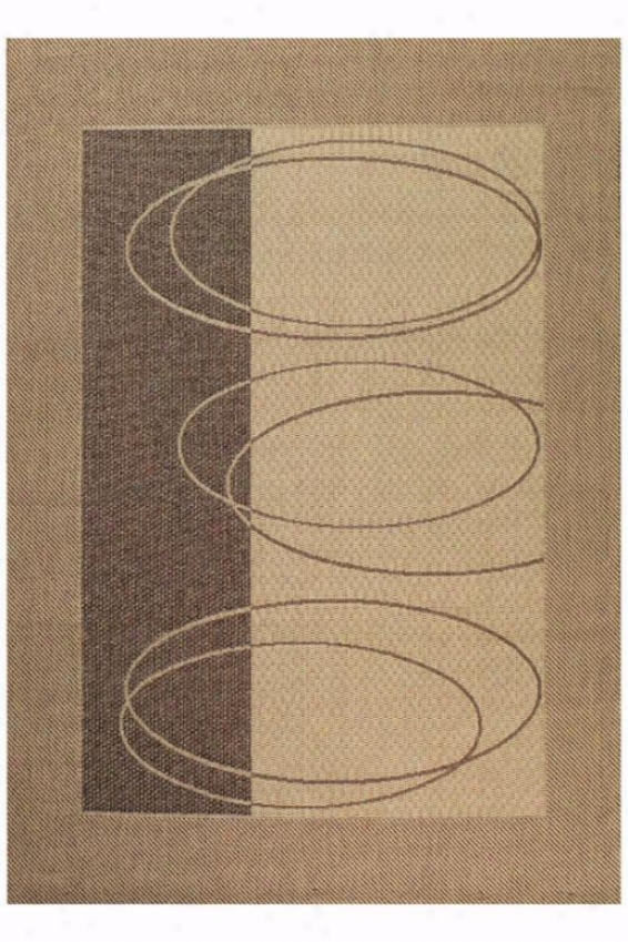 """couristan Boulder Outdoor Area Rug - 7'6""""xl0'9"""", Ivory"""