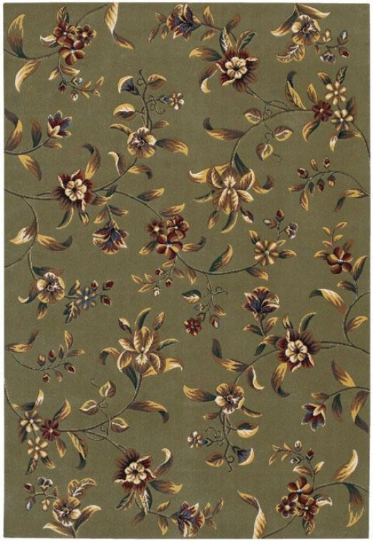 """couristan Budding Lily Area Rug - 2'2""""x4'6"""", Sage"""