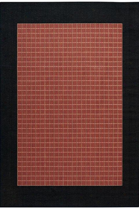 """couristan Checkerec Field Area Rug - 5'10'x9'2"""", Coral"""