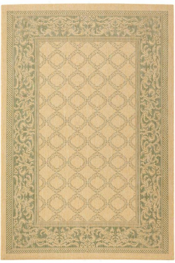 """couristan Entwined All-weather Areaa Rug - 8'6"""" Square, Lawn"""