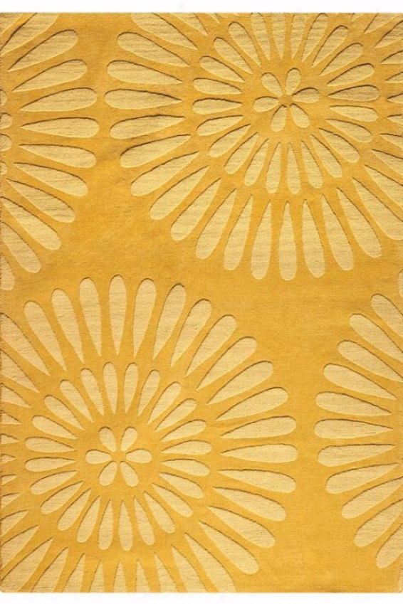 """""""couristan Greco Area Rug - 7'9"""""""" Round, Gold"""""""