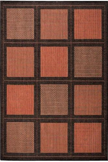 """couristan Summit All-weather Area Rug - 2'x3'7"""", Coral"""