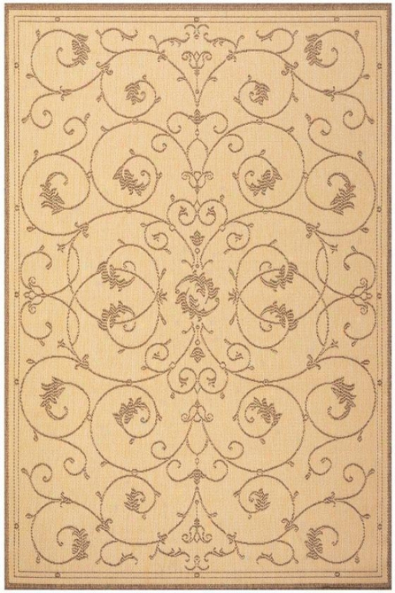 """couristan Tendril Area Rug - 8'6""""x13', Chocolate Brown"""