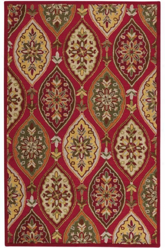"""coventry Area Rug I - 2'3""""x3'9"""", Red"""