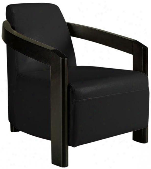 """cosel Arm Chair - 33""""hx26.5""""w, Black"""