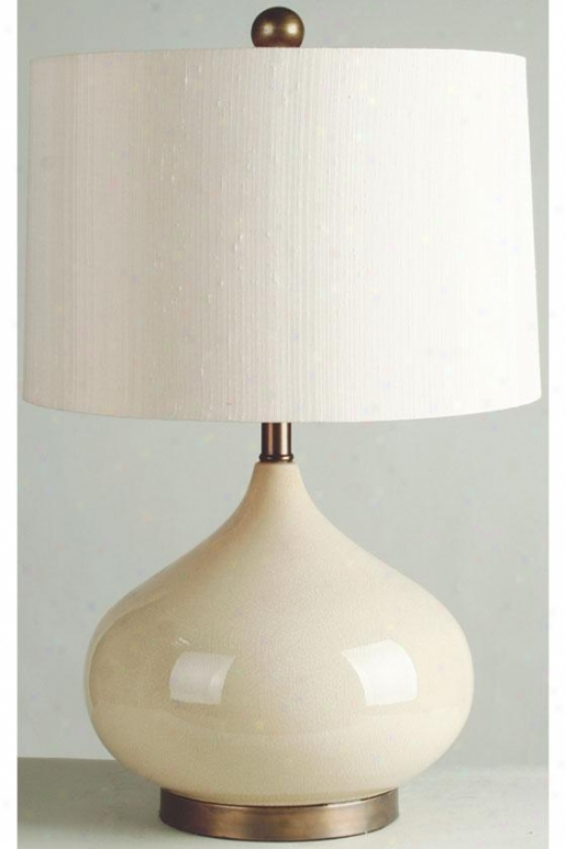 """crackled Table Lamp - 25.5""""hx16""""w, Almond"""