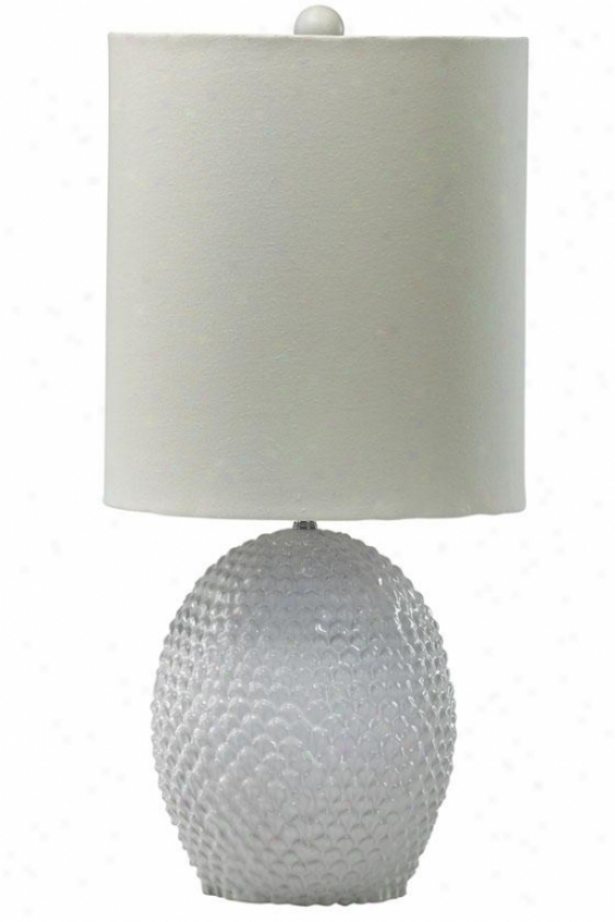 """cream Dimple Table Lamp - 25.5""""h, Ivory"""