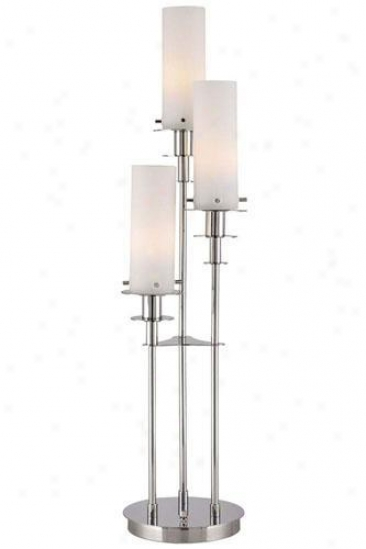 """credence Table Lamp - 33.5""""hx8""""w, Frost"""
