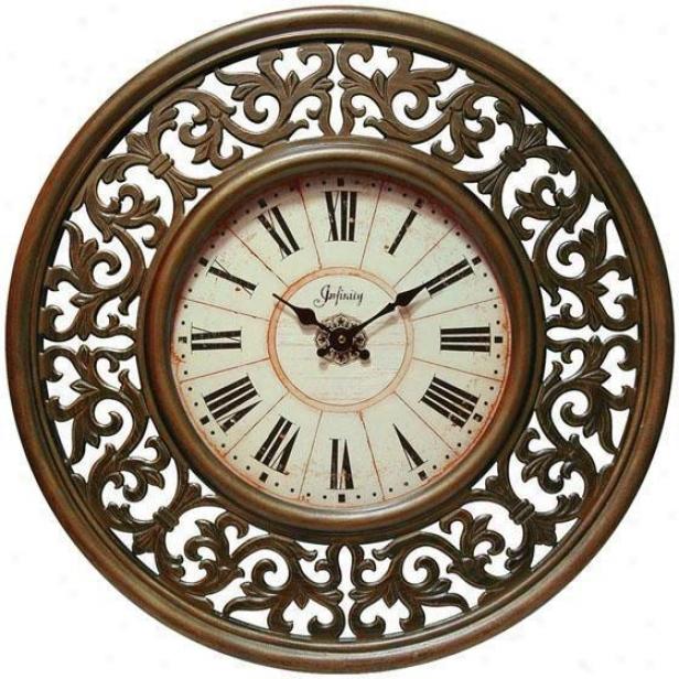 """""""crescendo Wall Clock - 26""""""""d, Bronze"""""""