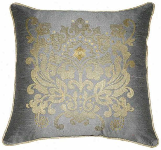 """crestwood Pillow - 18""""x18"""", Silver"""