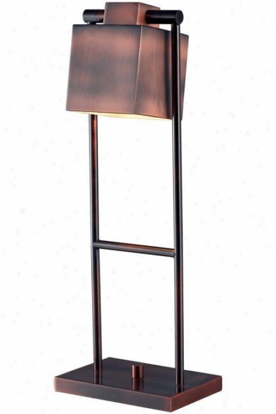 """crimmins Desk Lamp - 20""""h, Vnitage Copper"""