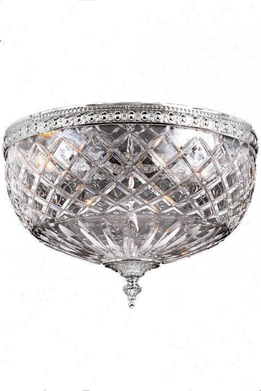 Crystal Flush Mount - Small, Silver
