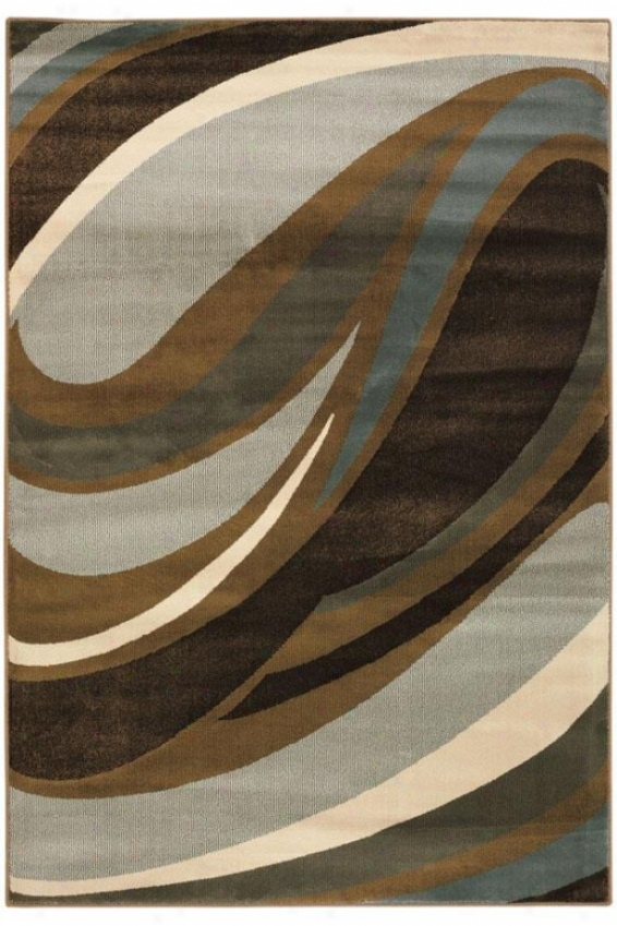 """curve Area Rug - 7'8""""x10'10"""", Blue"""