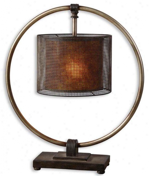 """dalou Table Lamp - 27.5""""h, Bronze"""