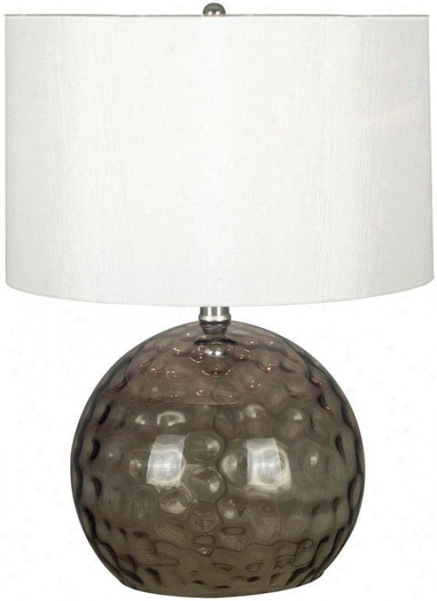 """dalton 20""""h Table Lamp - 20""""h, Smoked Glass"""