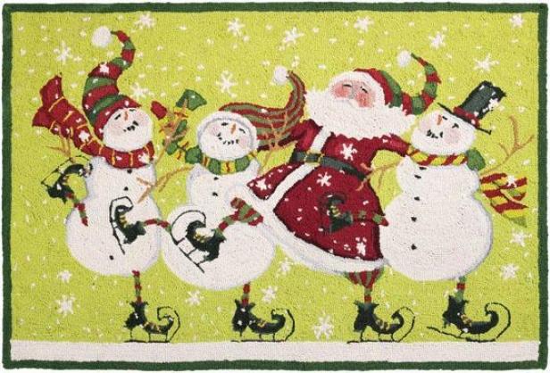 """""""dancing Santa Area Rug - 27""""""""hx40""""w, Dancing Santa"""""""