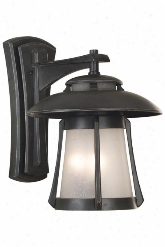 Dara Outdoor Lantern - Large, Ebony Pearl