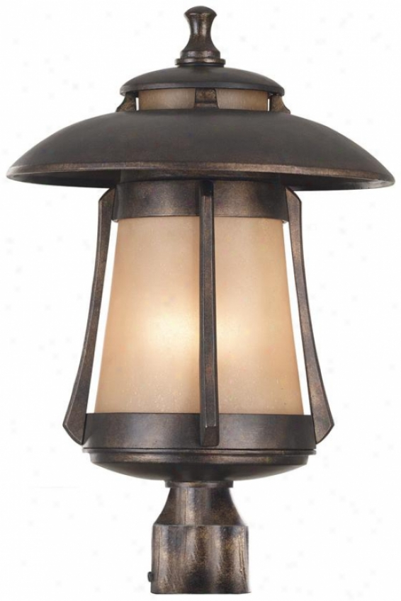 Dara Outdoor Post Lantern - Large, Bronze