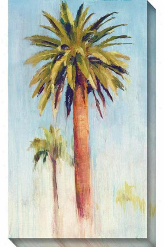 Begin Palm Ii Canvas Wall Art - Ii, Blue