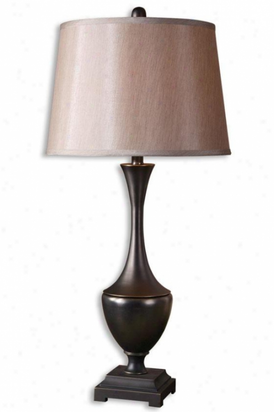 """davoli Table Lamp - 33.5""""h, Distress Bronze"""