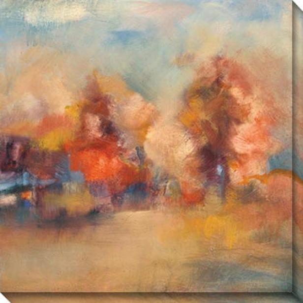 Daydream Iv Canvas Wall Art - Iv, Pumpkin