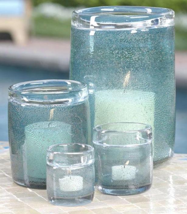 """""""decorative Bubble Glass Jar - 6.5""""""""h, Aqja Blue"""""""