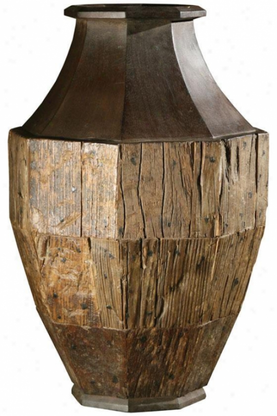 """dee Valley Rustic Urn - 15""""hx15""""w, Ivory"""
