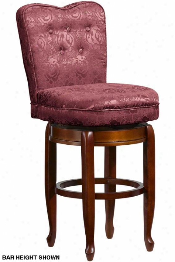 """delmar Heart-back Swivel Counter Stool - 24""""h, Burgundy Maroon"""